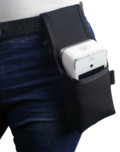 Pouch type holster for payment terminal